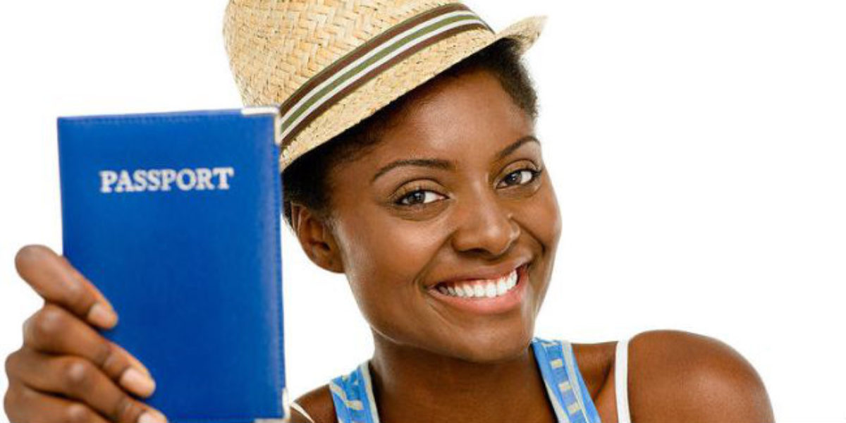 black woman travel passport