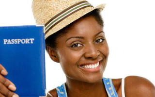 black woman travel passport