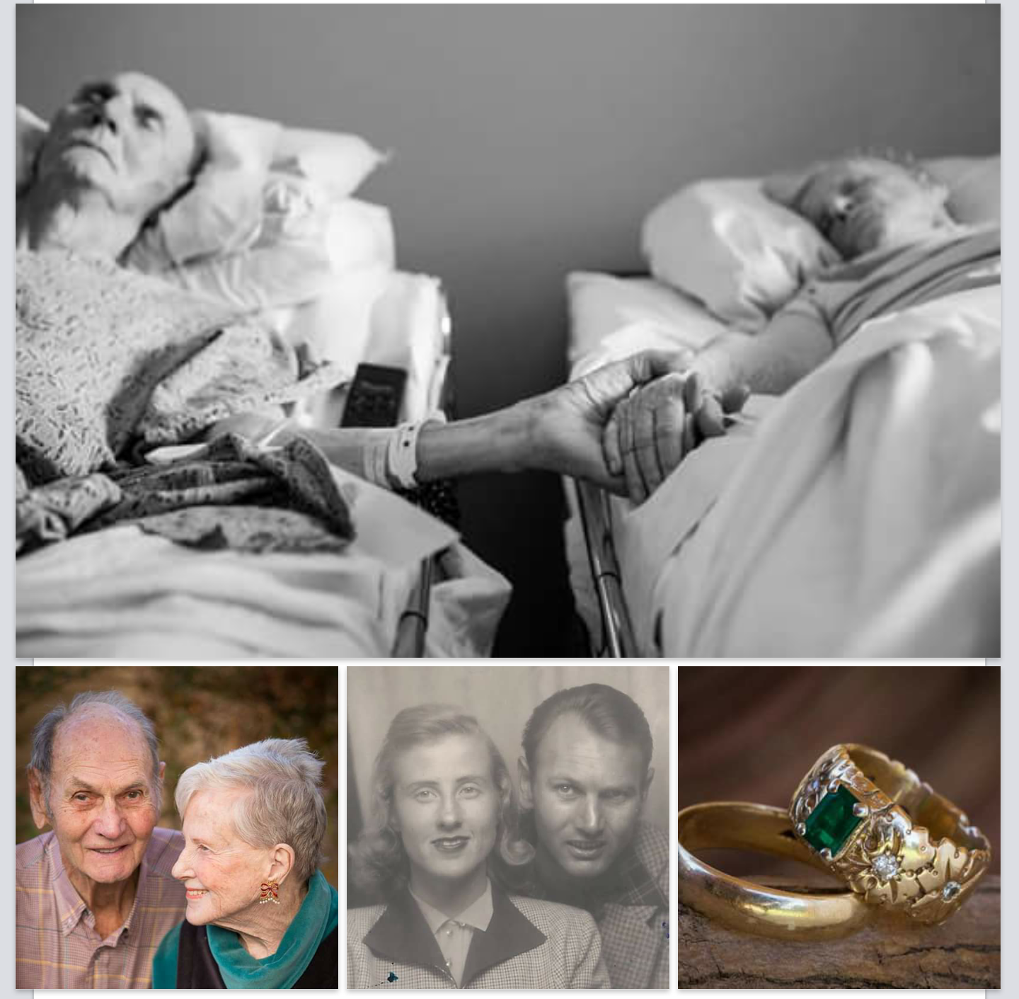 Love Conquers ALL. Couple Married 62 Years, Die 4 Hours