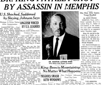times-picayune-newspaper-0405-1968-martin-luther-king-assassination