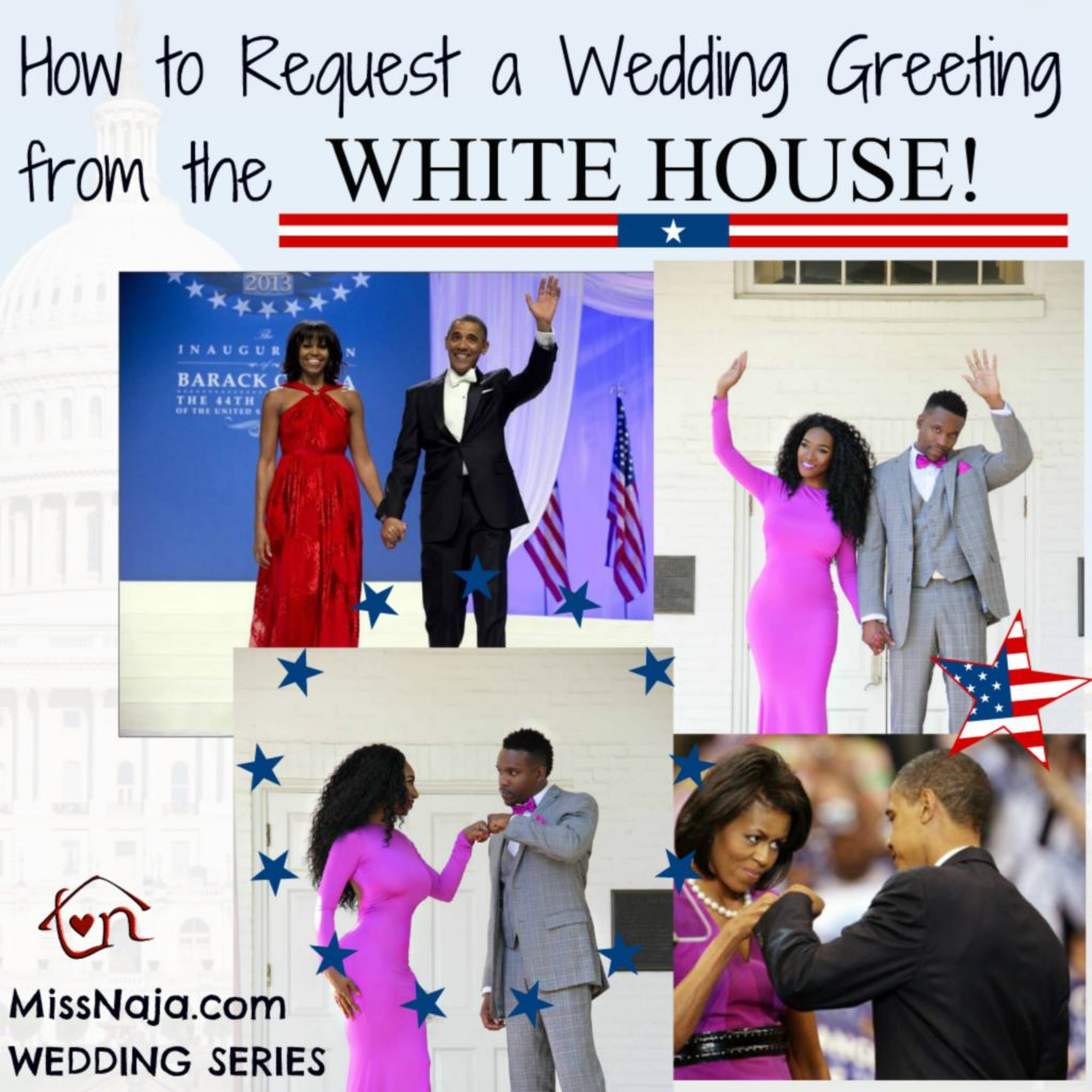 How to get president obama to send you a wedding greeting miss white house m4hsunfo